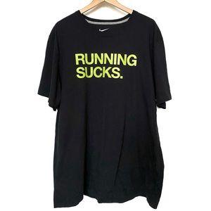NIKE Running Sucks Black Shirt